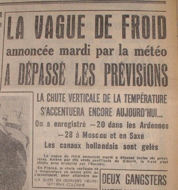 température février france